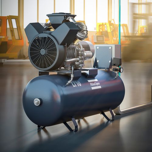 air compressor / stationary / electrically-powered / piston