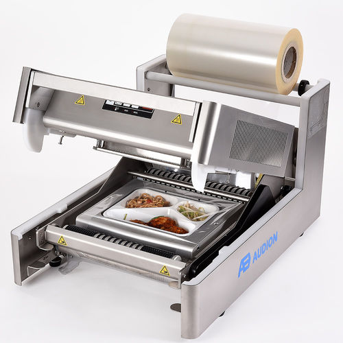 linear array tray sealer / manual / for the food industry / with modified atmosphere packaging