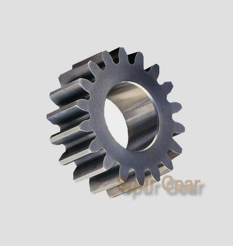 spur gear / straight-toothed / steel / hub