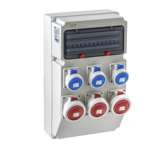 equipped electrical enclosure / wall-mounted / ABS / for low-voltage power distribution
