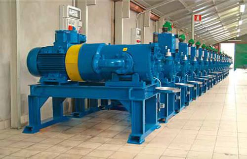 gas compressor / fixed / electrically-powered / rotary vane