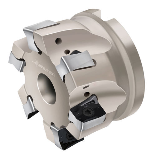 shell-end milling cutter / with positive insert / indexable insert / shoulder