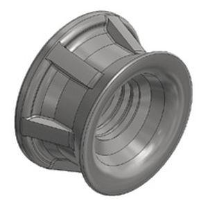 threaded insert / steel / round / for plastics