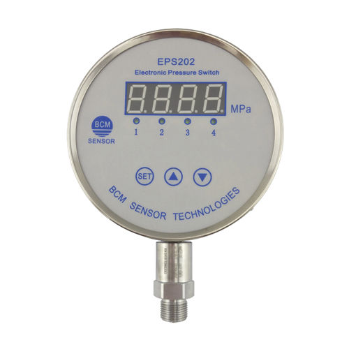 electronic pressure switch / industrial / with display / with digital display