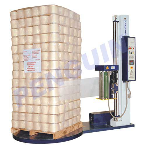 turntable stretch wrapper / fully automatic / pallet / stretch film