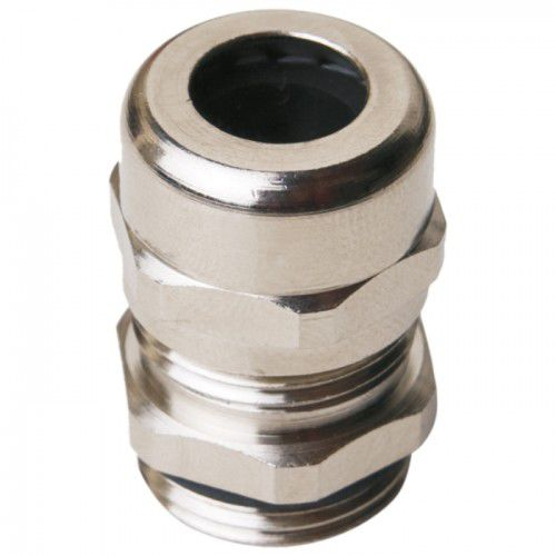 nickel-plated brass cable gland / IP68 / halogen-free / threaded