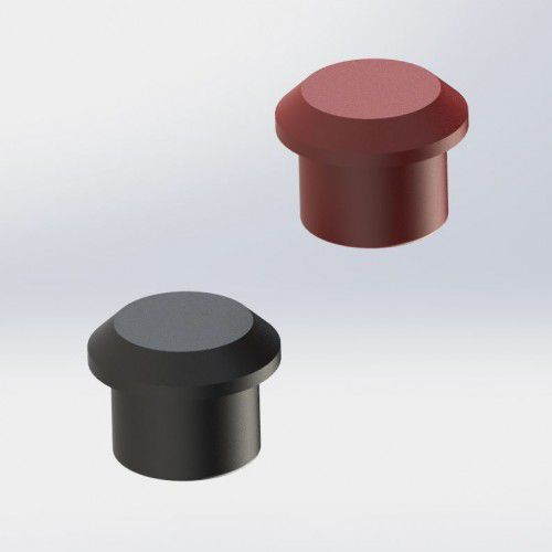 round plug / threaded / polyamide / protection