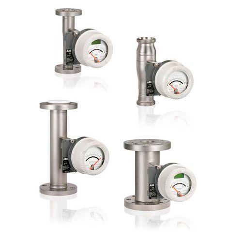 variable-area flow meter / for liquids / metal tube / stainless steel