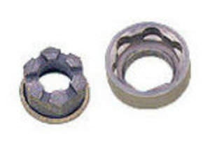 Flange nut / steel / self-retaining Avibank Mfg., Inc