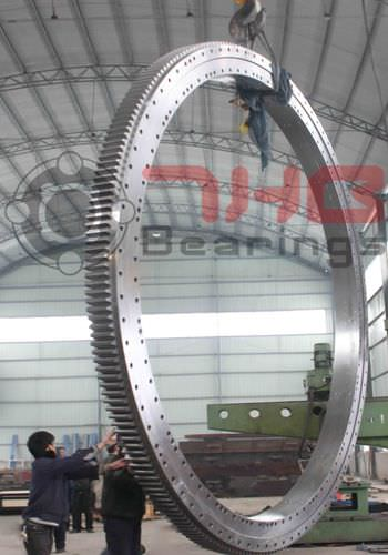 external-toothed slewing ring / roller / three-row / large-diameter
