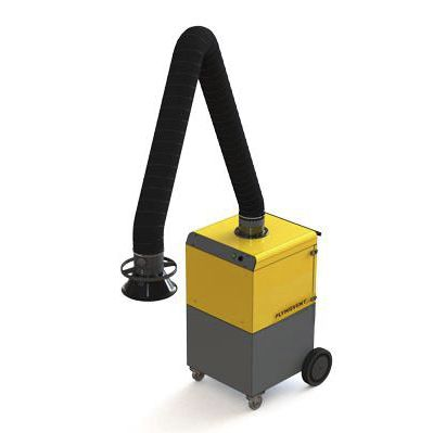 mobile fume extractor / welding / dry filter / with extraction arm