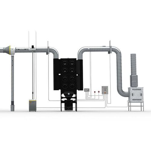 mobile fume extractor / welding / with multiple extraction arms