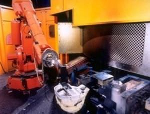 Robotic pouring cell / foundry / for cast parts Vulcan Engineering