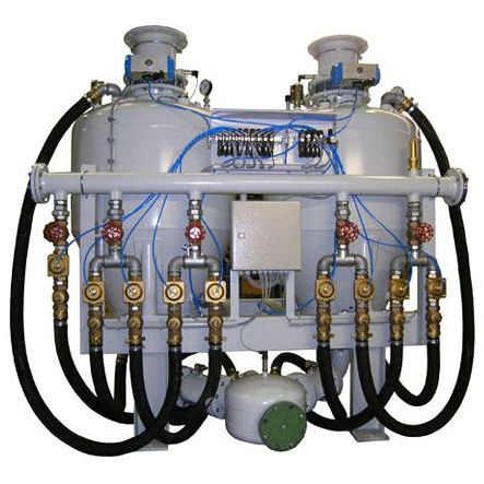 positive-pressure pneumatic conveying system / for powders
