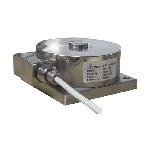 compression load cell / button type / miniature / stainless steel