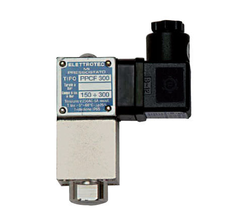 Adjustable piston pressure switch / IP65 / adjustable / adjustable PPCF series ELETTROTEC s.r.l.