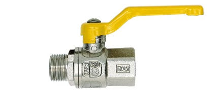 Ball valve / manual / control / for gas -20 - 60 ºC | 421 series FERRERO RUBINETTERIE SRL