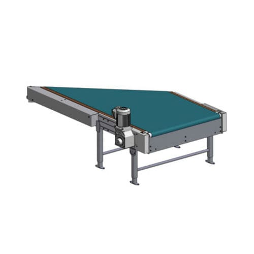 belt conveyor / for the aeronautical industry / for boxes / for containers