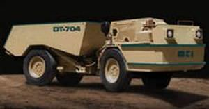 Articulated dump truck / diesel / for underground mining 6 363 kg | DT 704  Mining technologies International Inc
