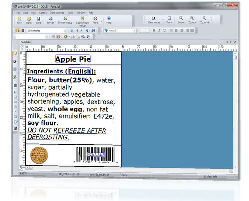 Barcode label design software LABELVIEW TEKLYNX International