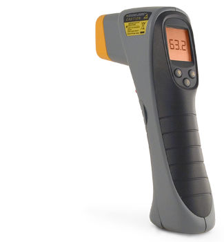 infrared thermometer / digital / portable / with laser pointer