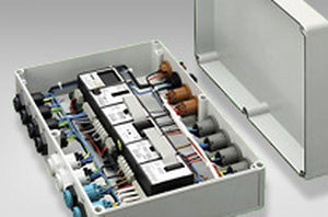 equipped electrical enclosure / plastic / power distribution / pre-assembled