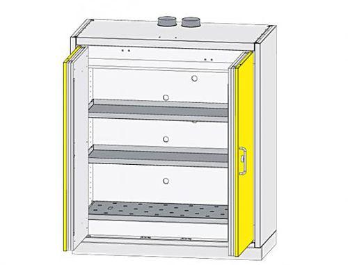 security cabinet / benchtop / hinged door / sheet steel