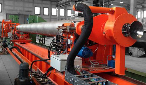manual shot blasting machine / for cylinders / automatic