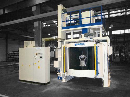 hook shot blasting machine / for metal / continuous