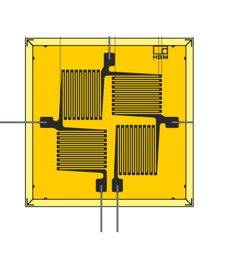 resistive strain gauge / rosette type / for stress analysis / full-bridge