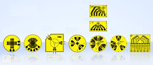 resistive strain gauge / circular / for stress analysis / surface