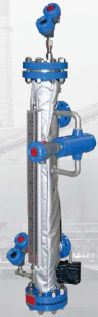 Water level indicator / magnetic / direct-reading / stainless steel Aurora® MAGNETROL