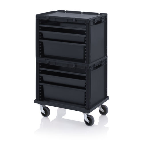 storage cabinet / on casters / with drawer / modular