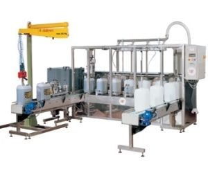 Can filling machine / can / linear / for liquids RFP 4x50 Marin G. & C.