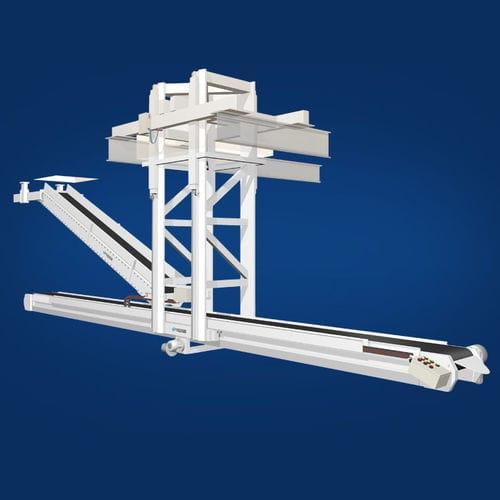 belt conveyor / bag / cement / inclined