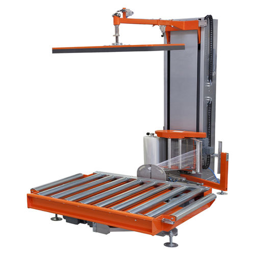 turntable stretch wrapping machine / automatic / pallet / stretch film
