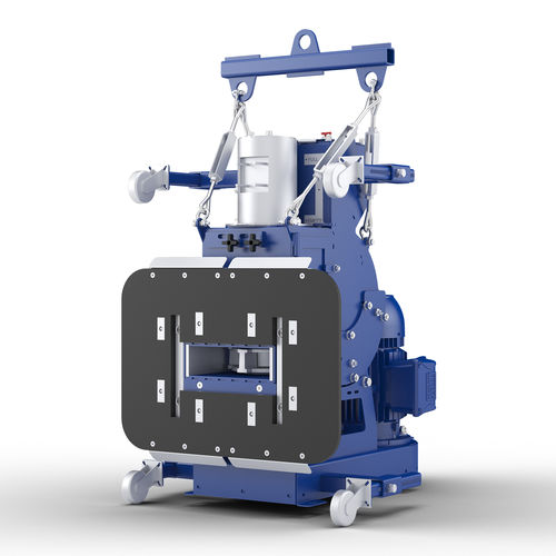 suspended load shot blasting machine / for metal / for concrete / mobile