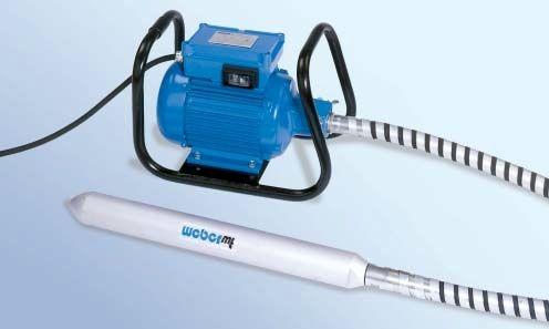 electromechanical vibrator / for concrete / vertical / compact