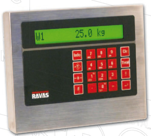 digital weight indicator / portable / waterproof / for forklift trucks