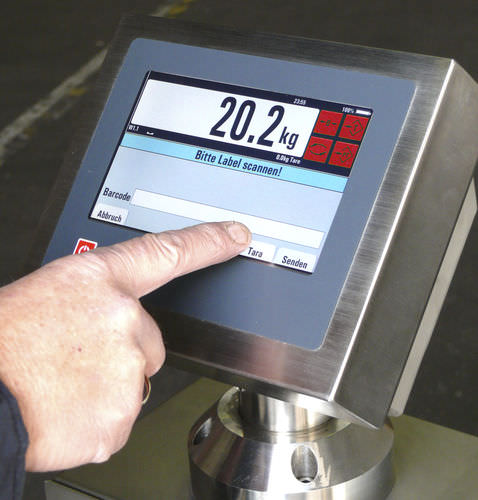weight indicator with touchscreen / programmable