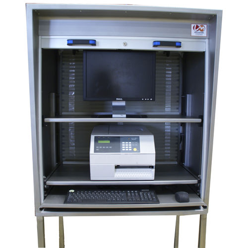 protective cabinet / network / free-standing / shelf