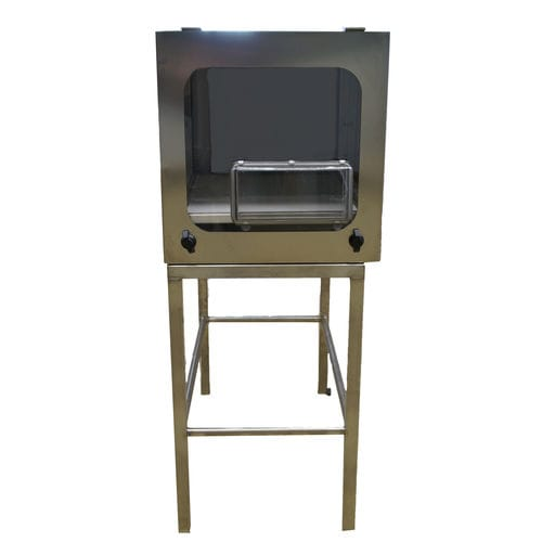 protective cabinet / free-standing / shelf / stainless steel