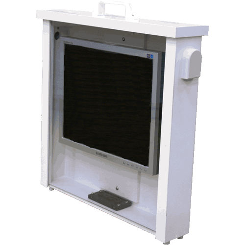 wall-mount enclosure / for desktop computers / built-in / office