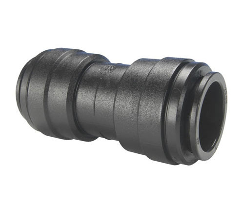 push-in fitting / straight / for compressed air / plastic