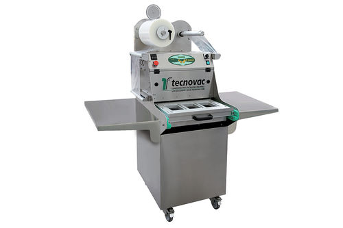linear array tray sealer / semi-automatic / with modified atmosphere packaging / for the food industry