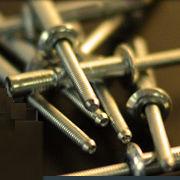 blind rivet / button head / steel