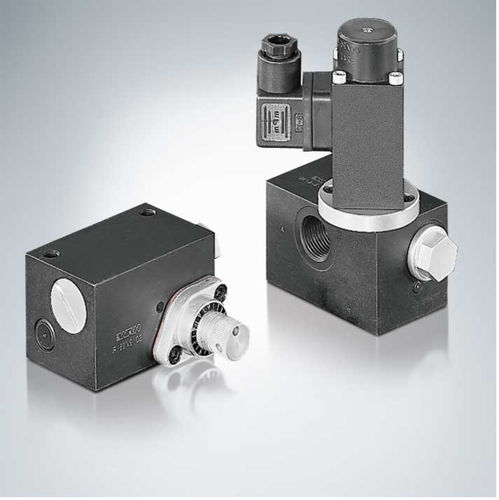 hydraulically-operated valve / flow control / for oil / for precision materials handling