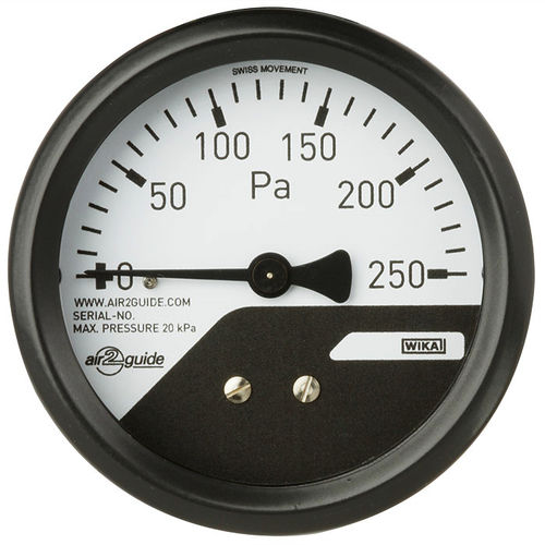 analog pressure gauge / differential / for HVAC / stainless steel