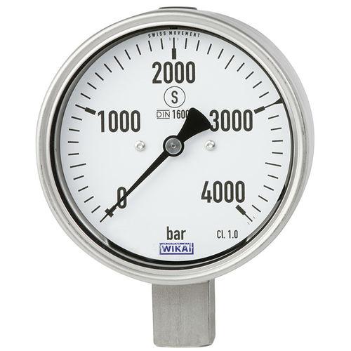 analog pressure gauge / Bourdon tube / test / for oil