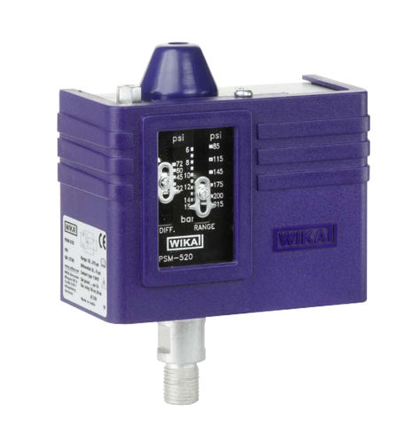 air pressure switch / for oil / for water / differential